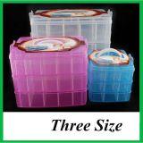 Trois couches de gros de la boîte de rangement en plastique