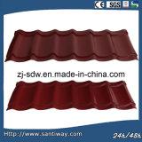Azulejo del metal de hoja de la azotea del color de la alta calidad en precio bajo