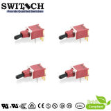 SGS Micro Waterproof SMT Terminal DC Jack Combination Spst Black Rocker Switch for Toy Machine or Conference System