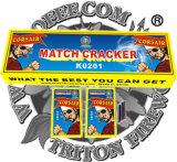Cracker de Correspondência de aranha preta com fogos de artifício de Fusíveis