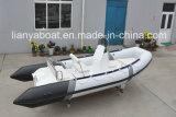 Barco profundo do reforço do CE da casca da fibra de vidro do medidor V de Liya 5.2 para a venda