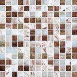 Het witte en Bruine Gouden Mozaïek van het Glas van de Lijn Smeltende (H420003)