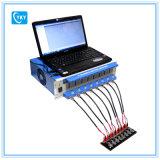 Analyseur de batterie des 8 Manche (0.005 -1 mA, jusqu'à 5V) avec les supports réglables ordinateur portatif et logiciel de cellules