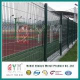La clôture soudée de treillis métallique/3D a plié la frontière de sécurité de treillis métallique/la frontière de sécurité soudée par acier de treillis métallique