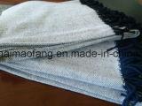 Tira de algodão puro em espinha de garfo com borlas