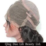 Suelta brasileño Wave 360 paquetes de encaje peluca con el Cabello Remy Pre desplumados 100% Cabello pelucas de cabello con el bebé