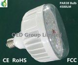 120 lumière de PARITÉ de l'ampoule 42W 2700k 4500lm DEL du degré E26 E27 PAR38 DEL avec la couverture claire IP65 Dimmable de PC de FCC