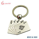 Anello portachiavi personalizzato delle coppie del cuore del metallo per il regalo