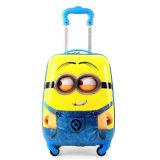 De pequeño tamaño, color amarillo de la bolsa de la rueda de 18 pulgadas en 3D Cartoon Bolsa Trolley patrón (GB#1102)
