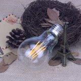 Lampe à filament de vente chaude d'ampoules de l'UL DEL de la CE A60 6W