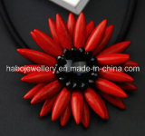 De Halsband Tophus van de Steen Necklace/Fashion van de glorie Sunflower/Natural (XJW13376)
