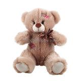 A venda por atacado encheu o urso macio da peluche do luxuoso do brinquedo com correção de programa