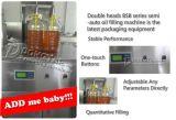 Bsb Halb-Selbstwalnuß-Öl-Füllmaschine mit zwei Köpfen/Einfüllstutzen