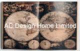 لون خاصّ سوداء شامل خريطة [بو] [لثر/مدف] خشبيّة كتاب شكل جدار فنية