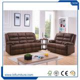 Insieme di lusso del sofà del cuoio europeo di stile del tessuto della Cina