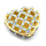 Boîte de bijoux, boîte de bijoux d'alliage, boîte de bijoux en métal (4)