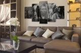 HD a estampé la toile noire et blanche Mc-045 d'illustration d'affiche d'impression de décor de pièce d'impression de toile de peinture de caractères indiens