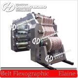 Machine d'impression flexographique de sachet en plastique de quatre couleurs