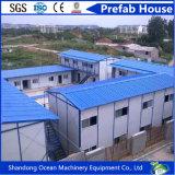 La estructura de acero de la construcción de casa prefabricada para residencia del trabajador/Oficina Temporal/Almacén