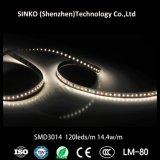 Indicatore luminoso 24V 120LED 14.4W/M SMD3014 del nastro del LED