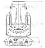 280W Super Mini movendo cabeça do local do feixe de iluminação de lavagem para a fase