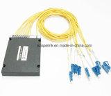 Scatola di plastica ottica di Wdm Mux/Demux 8channel della fibra passiva di telecomunicazione 2.0mm DWDM