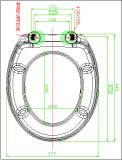 Diseño moderno urea Material sanitario UF de asiento de inodoro