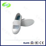 Weiße Segeltuch PU-Ineinander greifenCleanroom ESD-Schuhe