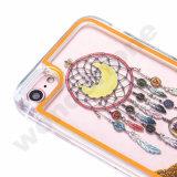 iPhone 6sのための多彩なLEDの軽いフラッシュ液体のきらめきの流砂の電話箱