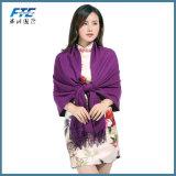 2017 겨울 패션 디자이너 단단한 긴 면 혼합 우연한 스카프