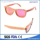 Heiße Form-Sonnenbrillen polarisierten handgemachter Zebra-hölzerne Sonnenbrillen