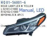 Hyundai Sonata 2014-2016년 OEM 부품 수를 위한 자동 LED 정면 램프 92101-C1000/92102-C1000