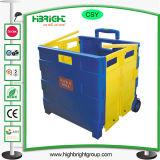 Faltbarer RollenEinkaufswagen des Plastiksatz-N