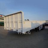 Stange-halb Schlussteil 40FT 60 Tonnen der flaches Bett-Ladung-Schlussteil-Seitenkonsole-4 Wellen-seitlicher Vorstand-halb Flachbettschlußteil-