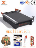 Suporte POS têxteis Piscina Piscina Anúncio máquina de corte de material de publicidade