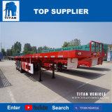대륙간 탄도탄 3 차축 평상형 트레일러 콘테이너 수송 트레일러