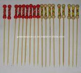 Faca de cocktail de bambu / Broche de bambu