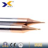Scanalature del carburo di tungsteno della fabbrica HRC 55 della Cina micro due che scanalano i laminatoi di estremità