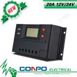 20A, 12V/24V, USB, LCD, ZonneControlemechanisme PWM