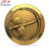 De Alta Calidad personalizada de una niña de la Ronda de patrón de la prueba de moneda