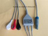 Кабель кнопки 3 ECG пластмассы 6pin Aha Biolight