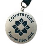 Medalla del esmalte del emblema del metal del laminado con la cinta