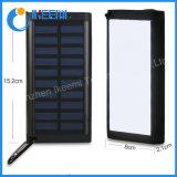 20000mAh cargador portátil Solar Power Bank con flash LED LUZ