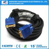 15pin PC HDTV를 위한 금에 의하여 도금되는 파란 SVGA VGA 접합기 모니터 남성 케이블 코드
