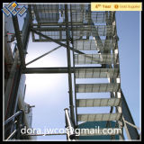 Escalera de plataforma galvanizado/ISO peldaños de escalera serrada chirrido