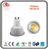 ETL Dimmable GU10 7W COB LED