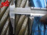 Веревочка провода 6X36ws+Iwrc Ungalvanized кабеля Nantong стальная