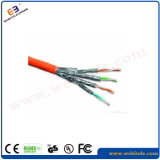 S/FTP экранированный кабель Cat 7 Витая пара кабель для установки, 23AWG сетевой кабель