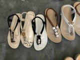 Le travail manuel de dames de femmes de poussoir de bascules électroniques de santal Handcraft des chaussures de TPR