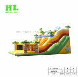 2公園の大きい車線のドラゴンのジャングルの膨脹可能なスライド